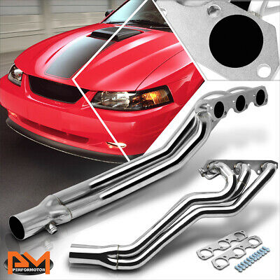 $170.89 • Buy For 94-04 Ford Mustang 3.8 V6 Stainless Steel Long Tube Exhaust Header+Gasket