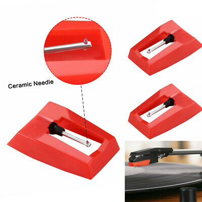 3Pcs New Replace Diamond Stylus Record Player Needle For LP Turntable Phonograph • 4.99£