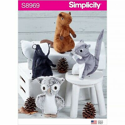 SIMPLICITY Sewing Patterns~8969  Stuffed Animal Toys On Size  • 8.85£