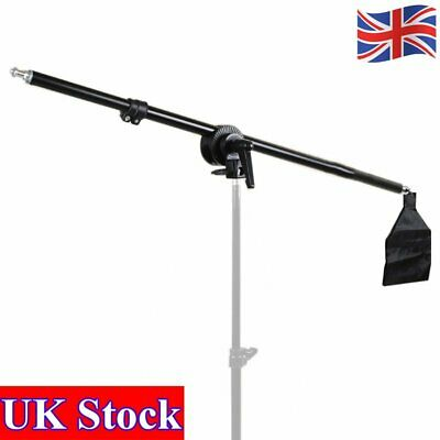 UK Extendable Photography Studio Telescopic Boom Arm W/ Sandbag For Light Stand • 14.59£