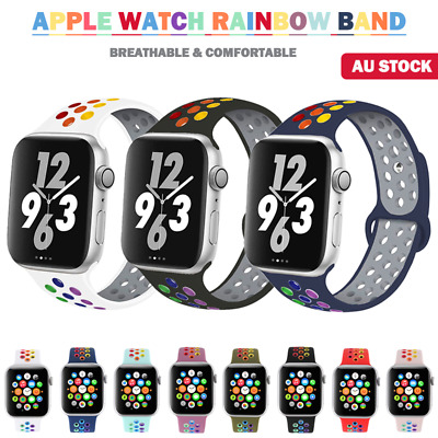 AU9.89 • Buy For Apple Watch Band Series SE 6 5 4 3 Sport Silicone IWatch Strap 38/40 42/44mm