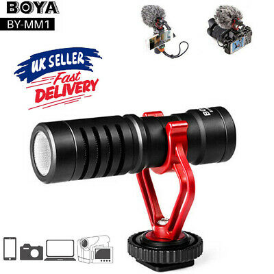 BOYA BY MM1 Cardioid Shotgun Microphone MIC Video For Smartphone DSLR Camera UK • 19.99£
