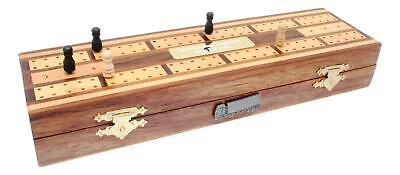 Articulated Lorry Wooden Cribbage Board With Playing Cards Personalised 446 • 29.99£