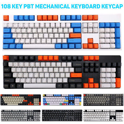 Universal 108Pcs PBT Colorful Key Cap Keycaps For Cherry MX Mechanical Keyboards • 12.94£