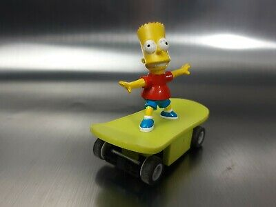 Micro Scalextric Slot Car Bart Simpson Skateboard Working 1:64 Free Shipping • 9.50£