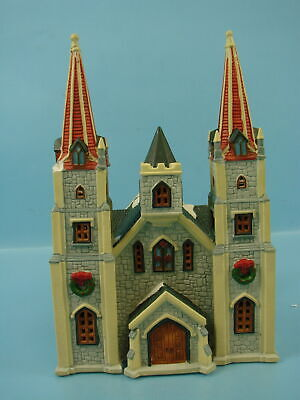 $ CDN38.87 • Buy Vintage 1995 Lemax Cathedral Church Ceramic Village Collection Christmas Decor
