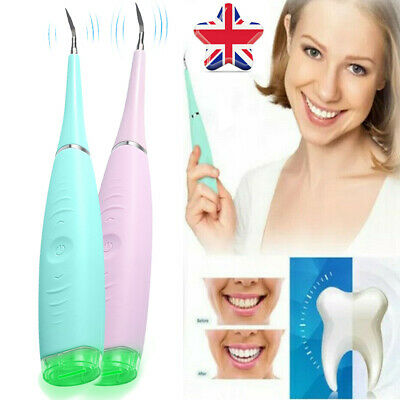 Electric Sonic Dental Scaler Plaque Tartar Calculus Remover Tooth Stains Tools • 7.13£