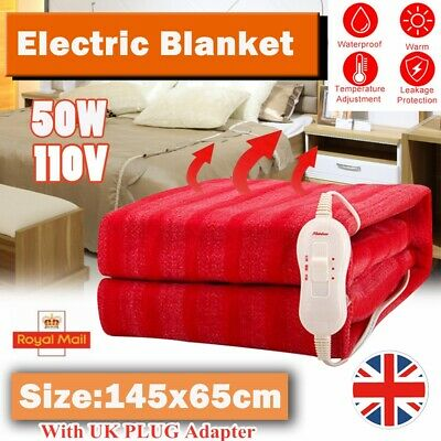 Winter Electric Heated Blanket Under Luxury Single/Double Size Bed With Control~ • 21.99£