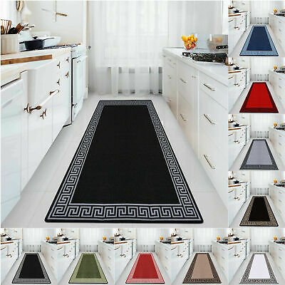 Non Slip Door Mats Long Hallway Runner Bedroom Rugs Kitchen Carpet Floor Mat • 14.99£