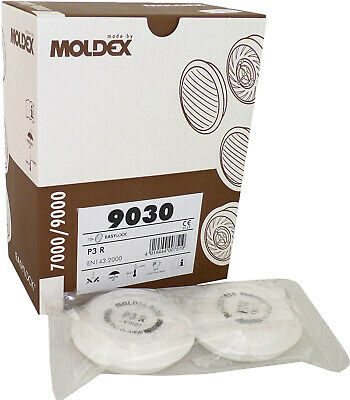 Moldex 9030 P3R Filters (1 Pair) For Moldex 7000 & 9000 Series Mask • 12.15£
