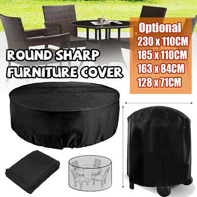 AU20.88 • Buy 2.3M Outdoor Furniture Round Cover Waterproof Garden Table Chair Shelter Protect