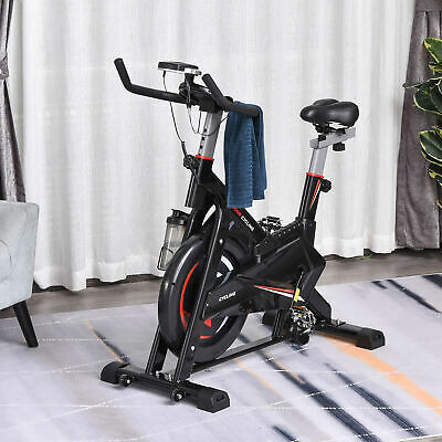 Spinning Exercise Bike 10kg Flywheel Gym Office Training Fitness W/LCD Monitor • 229.99£