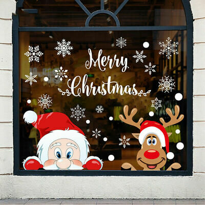 £4.97 • Buy 30x20cm 3D Large Christmas Window Sticker Lovely Cling Decal Home Holiday Party
