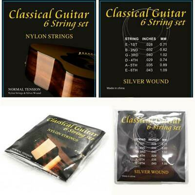 $ CDN7.88 • Buy 6PC/Set 1m Normal Tension Nylon Strings For Classical Classic Guitar Replacement