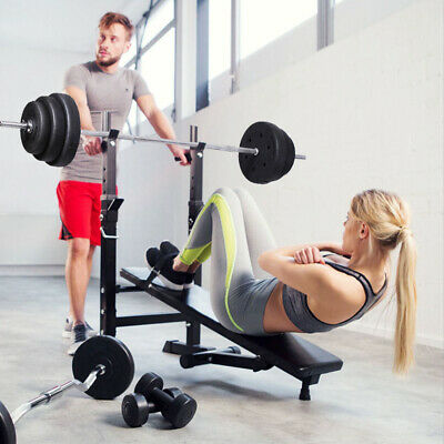 £76.99 • Buy Folding Weight Lifting Bench Workout Exercise Barbell Home Gym Fitness Training