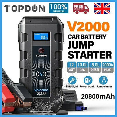 View Details 20800mAh USB Car Jump Starter Pack Booster Battery Charger Power Bank 2000Amp UK • 79.99£