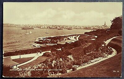 R.p. Postcard Boats-parade & Gardens-bangor Co Down-from Summit Of Amphitheatre • 10£