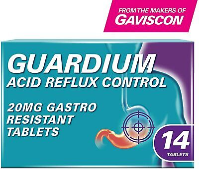Guardium Tablets Heartburn And Acid Reflux Control By Gaviscon - 14 Pack • 16.65£