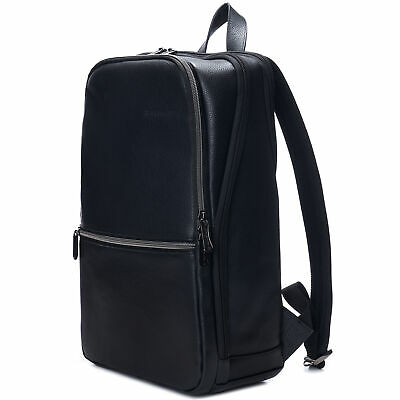 Alpine Swiss Mens Leather Laptop Backpack Travel Daypack Computer Bag Rucksack • 69.68£