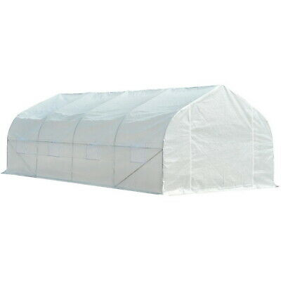 £169.41 • Buy Large Tunnel Greenhouse Walk-In Commercial Gardening Green House Deluxe Kit New