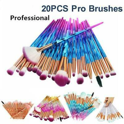 AU7.10 • Buy 20pcs/Set Professional Make Up Brushes Unicorn Blusher Face Powder Eyeshadow