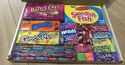 Laffy Taffy,Sour Patch Extreme,Nerds-American Sweets- Gift Box-USA Candy Hamper • 15.99£