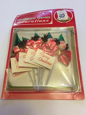 $ CDN18.41 • Buy Vintage Commodore Christmas Gift Wrap Package Tie Ons Decorations Japan New