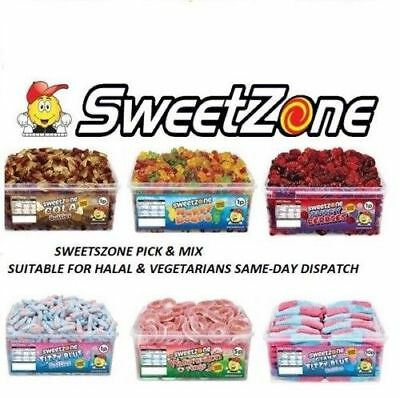 1 Full Tub Sweetzone  Party Favours Treats Sweets Wholesale Discount Candy Box • 10.99£
