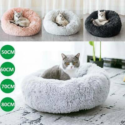 Pet Dog Cat Calming Beds Comfy Shag Warm Fluffy Bed Nest Mattress Pad Round Sofa • 18.99£