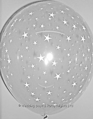 £3.59 • Buy 5 Clear Star Helium/Air 11  Balloons Hollywood New Year Party Prom Decorations