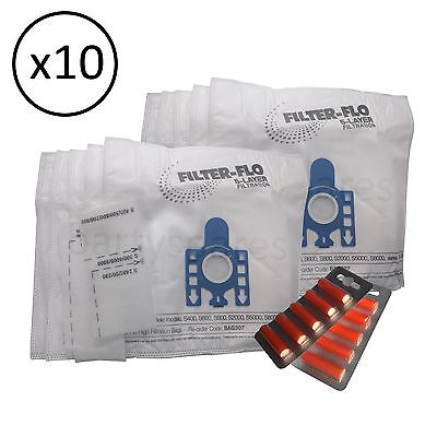 £9.99 • Buy 10 Dust Bags Filters & Air  Fresheners For MIELE GN Type S5261 & S5211 Hoover