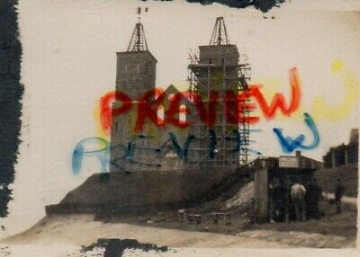 Photo Not Postcard. Reculver Towers Under Repair, Herne Bay, Kent. Taken 1926  • 4.99£