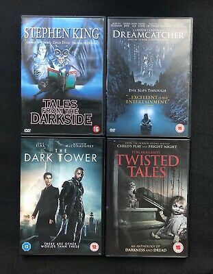 Stephen King Tales From The Darkside,dreamcatcher, Dark Tower, Twisted Tls Dvd's • 12£