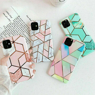 AU7.18 • Buy Case For IPhone 11 12 XR XS X SE 2020 8 7 ShockProof Marble Phone Cover Silicone