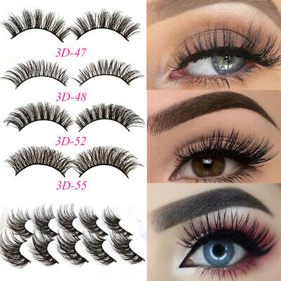 5Pairs 3D Natural False Eyelashes Long Thick Mixed Fake Eye Lashes Makeup Mink M • 3.59£