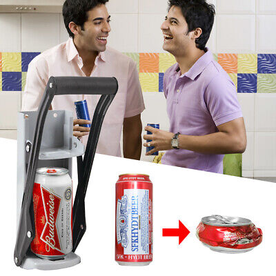 16oz Heavy Duty Beer Tin Can Crusher Wall Mounted Recycling Tool & Bottle Opener • 10.89£