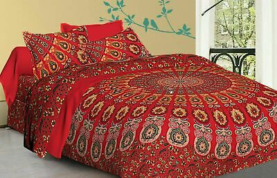 Bedding Set King Quilt Duvet Cover Mandala Hippie Gypsy Indian Blanket Set • 24.99£