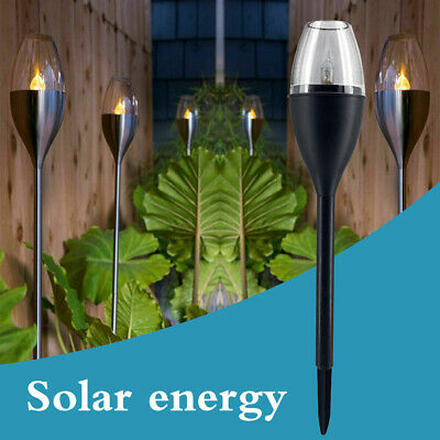 Waterproof Solar Dancing Flame Light Flickering LED Torch Lamp Outdoor Garden UK • 5.99£