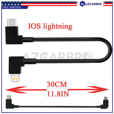 AU10.20 • Buy Data Remote Controller Cable For DJI SPARK MAVIC AIR 2 IOS Lightning Transfer US