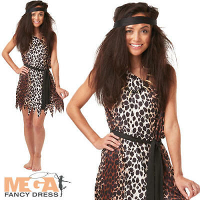 £10.99 • Buy Cavewoman Ladies Fancy Dress Barbarian Cave Girl Womens Adults Costume Outfit