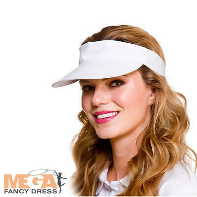 White Golf Visor Adults Fancy Dress Pub Golfer Hat Mens Ladies Costume Accessory • 2.99£