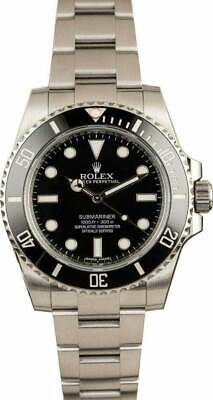 $ CDN14138.27 • Buy Rolex Submariner No Date Steel Black Ceramic Watch Box/Papers 114060