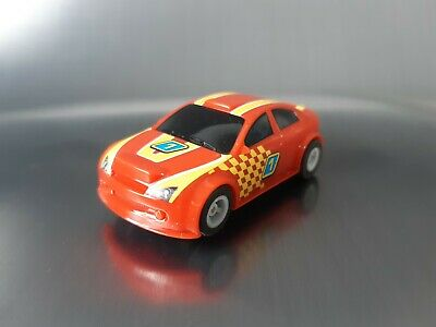 Micro Scalextric Car Red No1 Rally Working 1:64  Free Postage • 10£