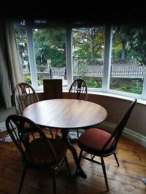Ercol Swan Quaker Kitchen Dining Chairs And Ercol Chester Extending Table.  • 400£