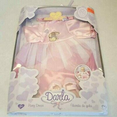AU39.62 • Buy Darla Party Dress You & Me Baby Doll Clothes Ballet Slippers Pink Bunny NEW