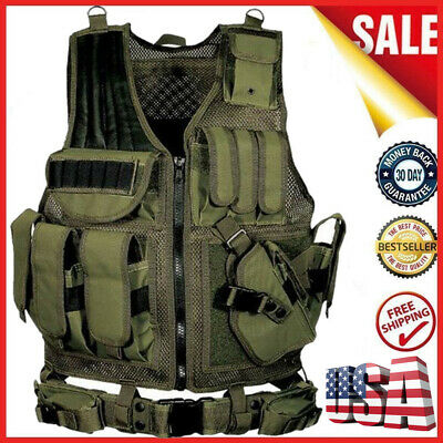 $31.19 • Buy Hot Tactical Vest Breathable Military Army Molle Hunting CS Field Training W9O4