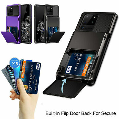 AU12.98 • Buy Samsung S20 Note 20 Ultra S10 S9 8 Plus Wallet Card Slot Holder Armor Case Cover