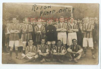 CLAPHAM Area Football Team RP Postcard C1920 • 6£