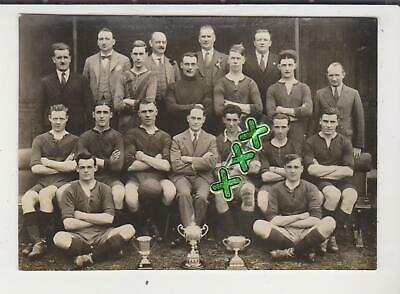 Oxford Photo Postcard ; Football Team With Trophies - Frisby, Parnell, Tyler • 4.99£