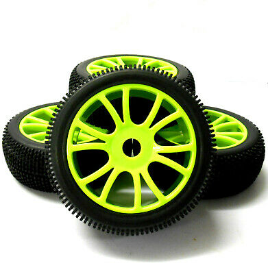 180053 1/8 Scale Off Road Buggy RC Wheels And Tyres Dual Spoke Green 4 • 20.99£